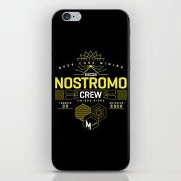 Deep Mining Crew / Nostromo / Alien / Science Fiction / Horror / Typography iPhone Skin