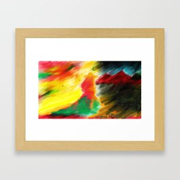 Light in the dark Framed Art Print