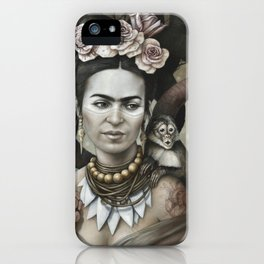 Hommage à Frida Kahlo 3 iPhone Case