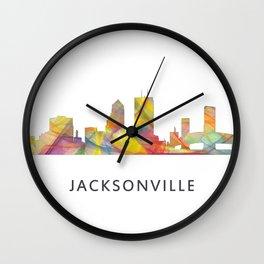 Jacksonville, Florida skyline WB1 Wall Clock