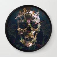 kingdom hearts Wall Clocks featuring Kingdom by Ali GULEC