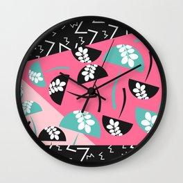 Mushrooms and strokes II Wall Clock