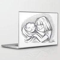 cuddle Laptop & iPad Skins featuring Cuddle by Mark Holden