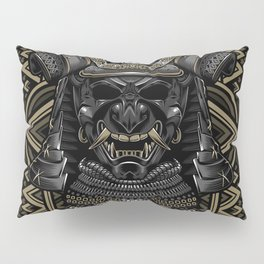 Samurai mask Pillow Sham
