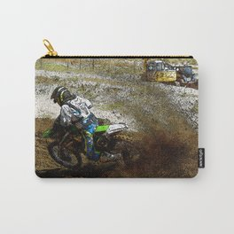 Round the Bend - Dirt-Bike Racing Carry-All Pouch