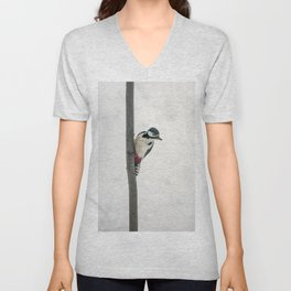 Knock, knock. Who's There? Woodpecker! Unisex V-Neck