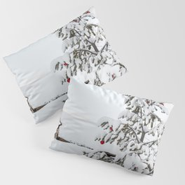 Christmas Tree In The Snow In Nordic Lapland | Norway Photo Art Print | Travel Photography Pillow Sham