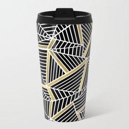 Ab Lines 2 Gold Metal Travel Mug