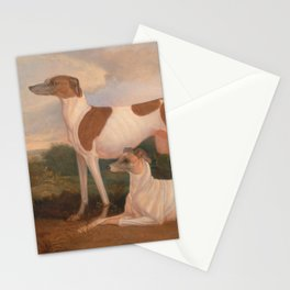 oil paintings of greyhounds Stationery Cards