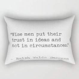 Ralph Waldo Emerson Literary Quote Rectangular Pillow