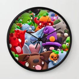 Creepy Collage Wall Clock