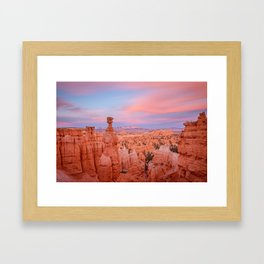 BRYCE CANYON SUNSET - UTAH NATIONAL PARK - LANDSCAPE NATURE PHOTOGRAPHY Framed Art Print
