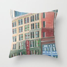 City Buildings View, downtown Oakland Throw Pillow