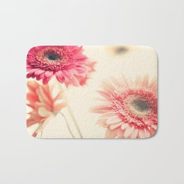 Sweet Side  (retro flower photography) Bath Mat