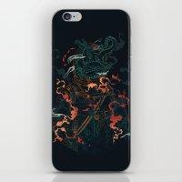 diver iPhone & iPod Skins featuring Space Diver by dan elijah g. fajardo