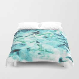 Abstract Green and Blue Duvet Cover