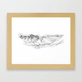 Jumbo, Canada :: Single Line Framed Art Print