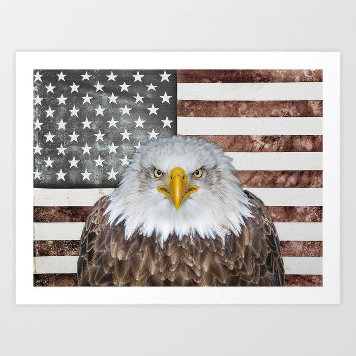 American Bald Eagle Patriot Art Print