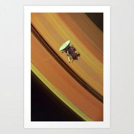 Cassini at Saturn Art Print