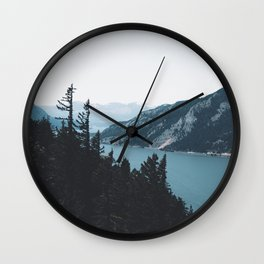 Columbia River Gorge V Wall Clock