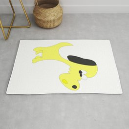 YELLOW MOTLEY MUTT Rug