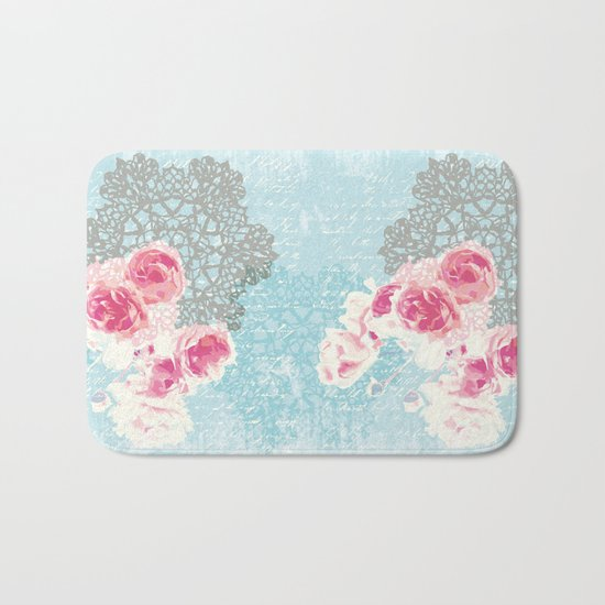 Roses and lace Bath Mat