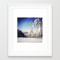 ski Framed Art Prints featuring Ski  by David Nadeau