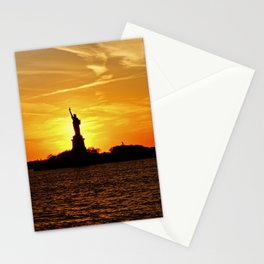 Lady Liberty at Sunset Stationery Cards