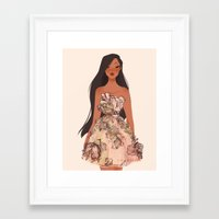 pocahontas Framed Art Prints featuring Pocahontas by punziella