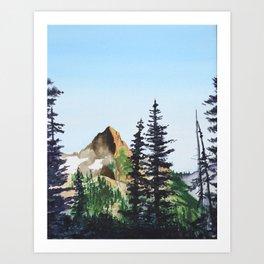 Red Mountain Landscape Art Print