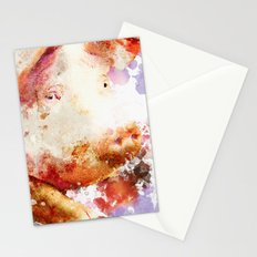 Watercolor Pig, Pig Painting, Pig Decor, Pig Art, Pigs Design Stationery Cards