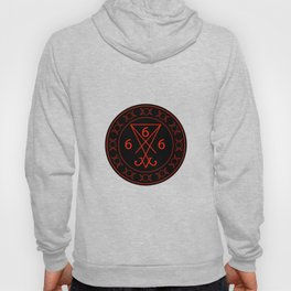 666- the number of the beast with the sigil of Lucifer symbol Hoody