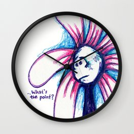 """What's the Point?"" Flowerkid Wall Clock"