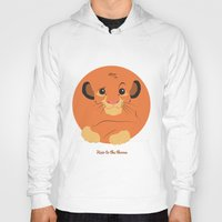 simba Hoodies featuring Heir to the throne by eqbal