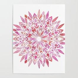 Mandala Pink Gold Poster
