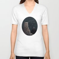 constellation V-neck T-shirts featuring Constellation Bear by Stephanie Piercy