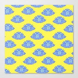 Lotus Pattern Yellow Canvas Print