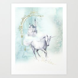 Unicorn magic Art Print