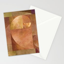Golden Ratio, Golden Spiral Composition Stationery Cards
