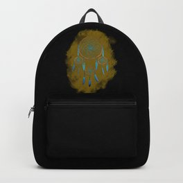 Dreamcatcher Turquoise: Sand background Backpack
