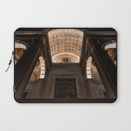 View from below of the main entrance of the Cathedral of Sant'Alessandro, the Cathedral of Bergamo A Laptop Sleeve