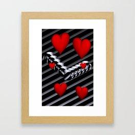 OpArt -51- Valentine coffeetime Framed Art Print