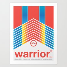 warrior single hop Art Print