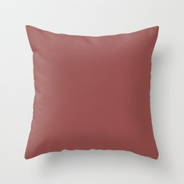 Marsala Wine Solid Color Throw Pillow