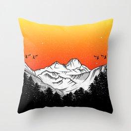 Rila Bulgaria Throw Pillow