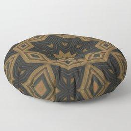 Folklore // Rustic Folk Art Bohemian Star Magical Moon Phase Brown Ochre Circle Earthy Pattern Floor Pillow