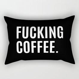 FUCKING COFFEE (Black & White) Rectangular Pillow