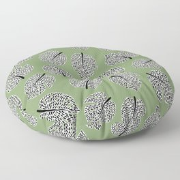 Abstract Monstera Leaf Pattern green Floor Pillow
