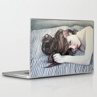striped Laptop & iPad Skins featuring Striped Sheets by Madelyne Joan Templeton