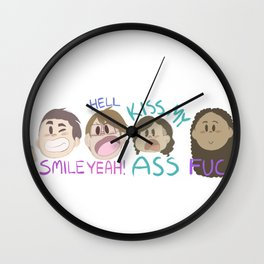 Squad Hoes Wall Clock
